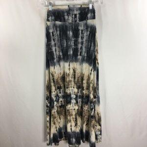 EUC Joe B Maxi Skirt Tie Dye Print Stretch MED